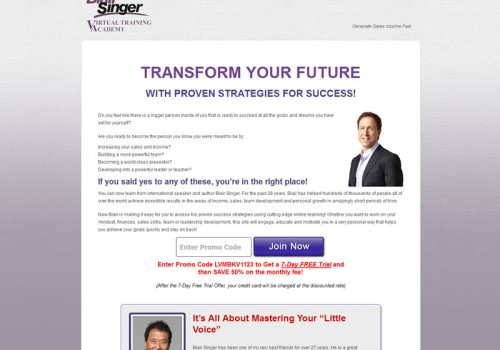 Blair Singer Virtual Training Academy