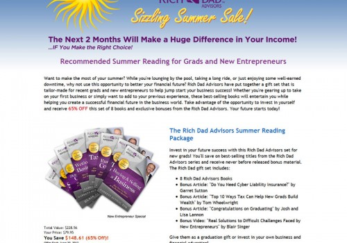 Rich Dad Sizzling Summer Sale